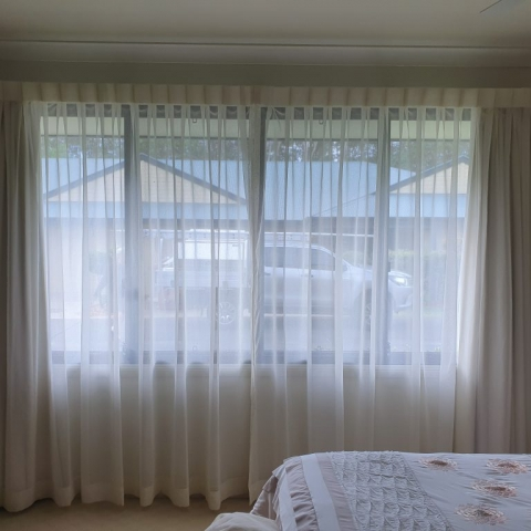 Soft voile sheer curtains